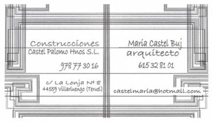 Construcciones Castel Palomo - María Castel Buj