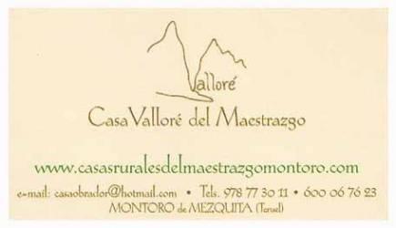 Casa Vallore del Maestrazgo